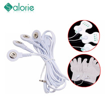 4 ways Electrode Tens Cable Conductive Line Wire for Electrode Pads Digital Tens Massage Machine Body Meridian Therapy Massage