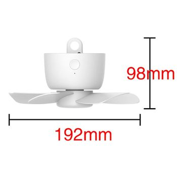 8000 мАч USB Перезаряжаемый пульт дистанционного управления с таймером 4 передачи потолочный вентилятор для кровати палатки