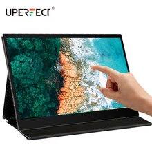 UPERFECT FHD 1080P IPS type-c przenośny Monitor pielęgnacja oczu ekran z HDMI/USB-C do laptopa PC/MAC/PS4/Xbox/przełącznik Smart Cover