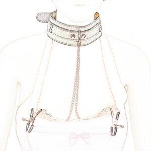 Image 3 - שעבוד סאדו איפוק פטיש צווארון שרשרת קולרים קיבוץ זה פטמה מלחציים SM מין למבוגרים נשים משחק אקזוטי אביזרים