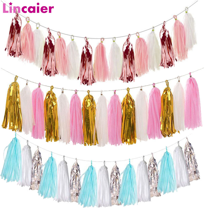 15pcs Paper Tassel Garland Graduation 2019 2020 Party Decoration Just Married Babyshower Boy Girl 30th 40th 50th 60th Birthday