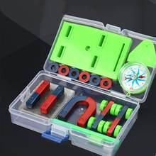 DIY Бар кольцо подковы компас набор магнитов Базовая физика Обучающие аппараты технологии научный эксперимент инструмент игрушки для детей