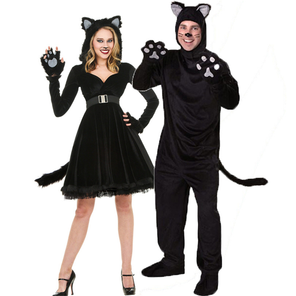 2020 New Arrivals Cosplay Costumes Clothing Halloween Costume Women Dress Man Clothing Couple Clothes For Party Cosplay Cat