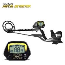 Detector de Metales subterráneo MD3030, cazador de tesoros, pantalla LCD, buscador de oro ajustable, excavadora bajo aguas poco profundas, alta sensibilidad