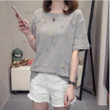 elegant korean fashion 2020 new summer t-shirt women short sleeve o-neck loose casual t-shirt sweet lady plus size t-shirt fw331(China)