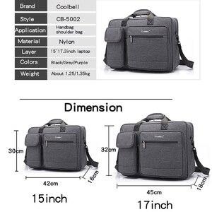 Image 2 - Coolbell New Big capacity 15 15.6 laptop man business shoulder bag Messenger bag for macbook PRO 15.4, 17 inch laptop briefcase