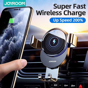 Joyroom 15W Qi Car Phone Holder Wireless Charger Car Mount Intelligent Infrared for Air Vent Mount car car charger wireless