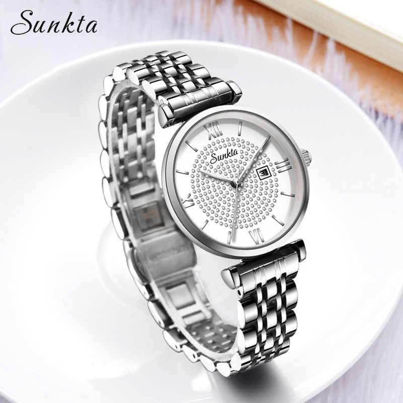 SUNKTA ผู้หญิงนาฬิกาผู้หญิงนาฬิกา zegarek damski reloj mujer montre Femme relojes Para mujer relogio feminino zegarki damskie