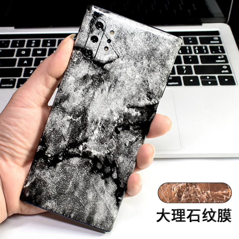 Marble Soft Film For Samsung <font><b>Galaxy</b></font> Note 10 Plus 8 9 Marble Skin Protective Back Body <font><b>Sticker</b></font> For Samsung <font><b>S10</b></font> S8 S9 Plus S10E image