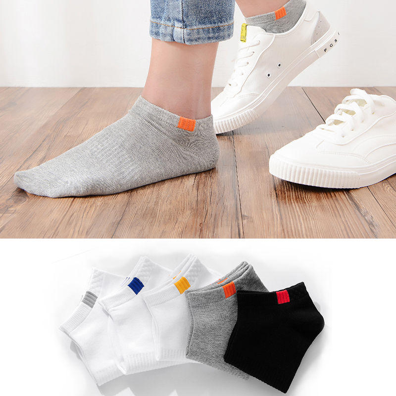 5pair/lot Summer Cotton Man Solid color Short Socks Fashion Breathable Man Boat Socks Comfortable Casual Socks Male white hot