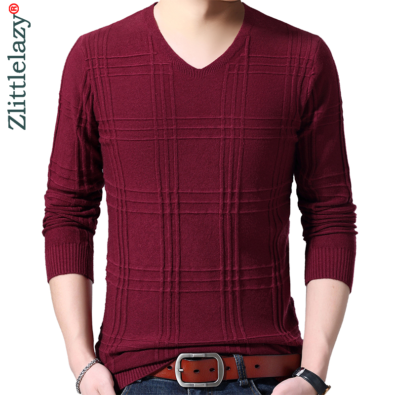 2019 Brand New Casual Thin Solid Knitted Pull Sweater Men Wear Jersey Mensluxury Pullover Mens Sweaters Male Fashions 90309