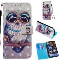 Owl Butterfly Flip Wallet For Xiaomi 9T Pro 5X 6X A1 A2 7 8 Mi 10 Lite 5G Mi 10 Youth Redmi Note 9S Cute Painted Phone Case P03E