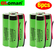 Original 18650 Rechargeable Batteries NCR18650B 3.7 v 3400mah 18650 Lithium Replacement Battery Welding wire batteries