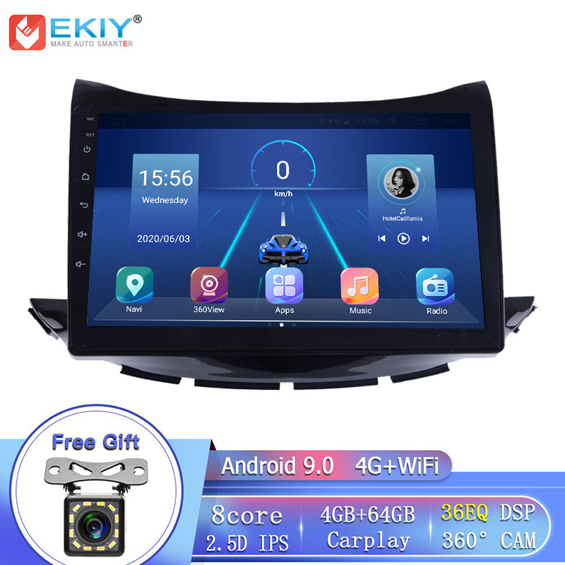 "EKIY 8 Core 4G LTE 9"" IPS DSP Android 9.0 For Chevrolet Trax 2017 Car Radio Multimedia Player GPS Navigation Stereo CarPlay DVD
