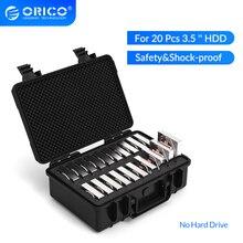 ORICO 3.5 인치 20 베이 HDD 하드 드라이브 외부 보호 보관 케이스 박스 휴대용 멀티 베이 물 \ 먼지 \ 충격 방지