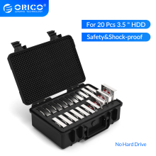 ORICO 3.5 inch 20 Bay HDD Hard Drive External Protection Storage Case Box Portable Multi Bay Water\Dust\Shock proof