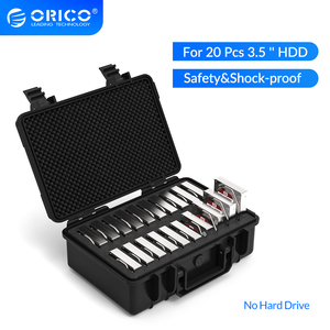 Image 1 - Orico 3.5 Inch 20 Bay Hdd Harde Schijf Externe Protection Storage Case Box Portable Multi Bay Water \ Stof \ shock Proof