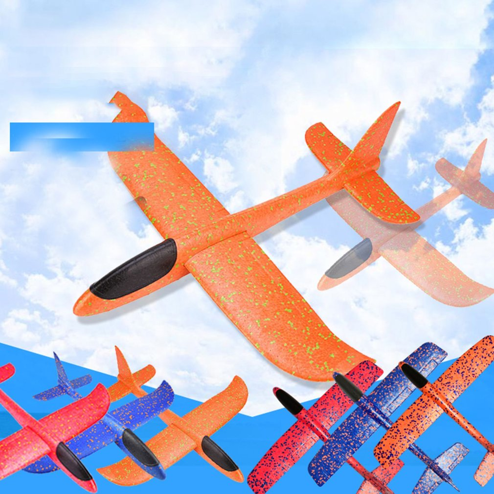 Kids Airplane Toy Hand Throwing Foam Plane Model Children Outdoor Flaying Glider Toys EPP Resistant Breakout Aircraft TY0310 image