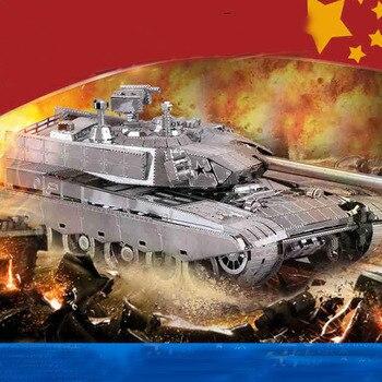 PMA Stainless Steel 3D Metal Puzzles Model For Adult Jigsaw China Main Tank T99 3D Model Kits Laser Cut Assemble Jigsaw Toys assemble ph35005 1 35 russia 279 engineering nuclear tank blocks kits