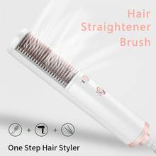 Professional One Step Hair Dryer Styler Straightening Hair Comb Salon Hot Air Brush Household Hair Straightene Beauty Styling(China)