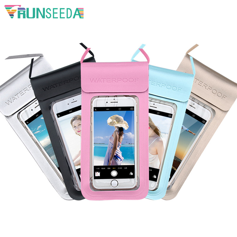 Large Size Mobile Swimming Bag Double Seal Waterproof Mobile Phone Pouch Surfing Diving Beach Seaside Universal Cellphone Case