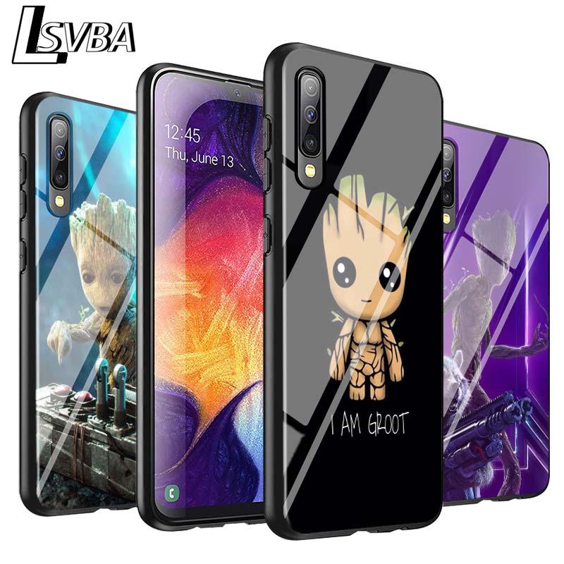 Black Cover I AM Groot Marvel For Samsung Galaxy A90 A80 A70S A60 A50S A40 A20E A20 A10S Super Bright Phone Case