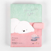 Little Puppy Cute Dog Faux Leather Soft Cover Diary Journal Notebook Notepad Planner Agenda