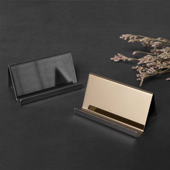 Stainless Steel Business Card Holder Business Desk Business Card Display Office Accessories Photo Display Stand Desk Accessories цена 2017