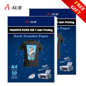 Heat-Press-Printer Cloth Photo-Paper Transfer Fabrics Inkjet Iron-On Dark-T-Shirt Printing-Design