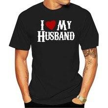 Camiseta eu amo meu marido para uma mulher aniversário presentet 2021