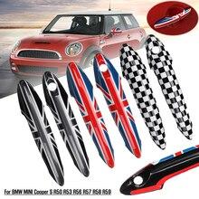 Manija de puerta Exterior para Estilismo de coche, cubierta embellecedora de ABS para BMW para MINI Cooper S R50 R53 R56 R57 R58 R59 2 uds.