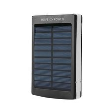 Portable Solar Power Bank 50000mAh Bateria External Dual USB LED External Mobile