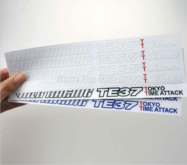 4 x Neue Auto Styling Auto Felge Dekorative Vinyl Aufkleber Serie Auto Zubehör Decals für Volk Racing TE37 Tokyo zeit Angriff