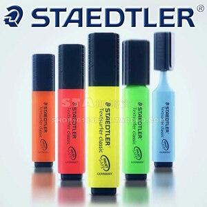 Image 4 - 8 sztuk lub 9 sztuk/zestaw STAEDTLER wyróżnienia ukośne Marker dzieci Graffiti Journal Marker uwaga długopis szkolne materiały papiernicze
