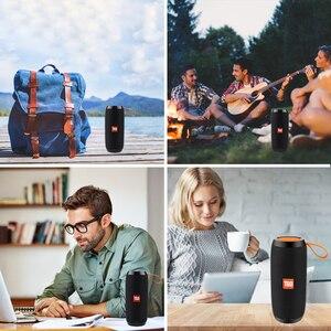 Image 5 - Bluetooth Wireless Speakers Waterproof  Stereo Column Portable Speaker with Mic FM Radio MP3 Bass Sound Box