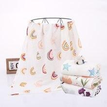 120x110cm recién nacido muselina de Swaddle bebé mantas de niña manta Swaddle manta mantas de bebé