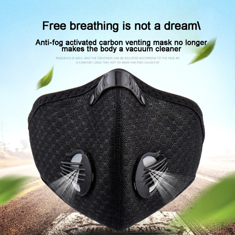 Outdoor Sporting Riding Activated Carbon Mask Reusable Dustproof Face Masks For Running Reusable Dustproof Face Masks