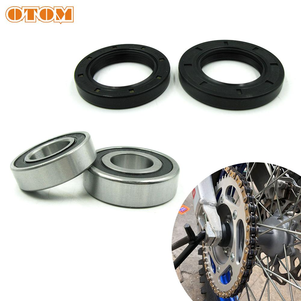 OTOM For YAMAHA Rear Wheel Hub Bearing Oil Seal WRF YZ YZF 125 250 426 450 Motorcycle Accessories Oil Seal Bearing Set Dirt Bike