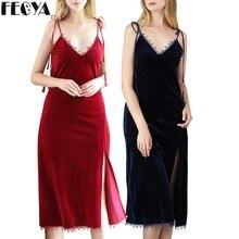 Sexy Flannel  Womens Nightgown Luxury Lingerie Sleepwear Lace Nighty Nightwear Sleeveless Daily Dress Bottoming Plus Size