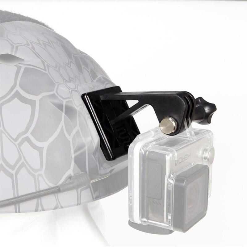AISPORT Sports Camera Helmet Adapter Nylon Plastic Spring Lightweight Guide Rail Mount Fixed Holder Hunting AccessoriesFor Gopro