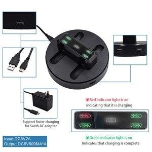 Joy-Con зарядная док-станция светодиодный держатель для зарядки с микро-usb кабелем для консоли Nintendo Switch