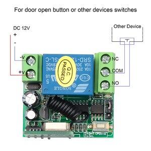 Image 3 - 433 Mhz التحكم عن بعد RF الارسال مع تيار مستمر 12 فولت 1CH التتابع وحدة الاستقبال اللاسلكية التحكم عن بعد التبديل لباب كهربائي