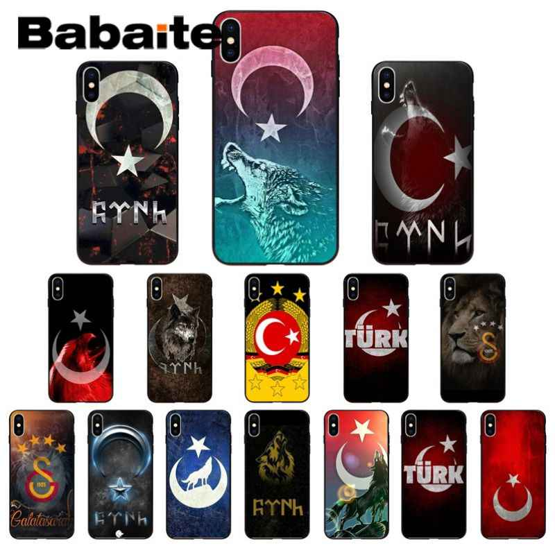 Coque آيفون x العلم من تركيا العلم الذئب الجدة Fundas غطاء إطار هاتف محمول آيفون X XS ماكس 6 6S 7 11pro 8Plus 5 5s XR