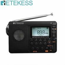 Retekess v115 радио am fm sw карманный радиоприемник коротковолновый