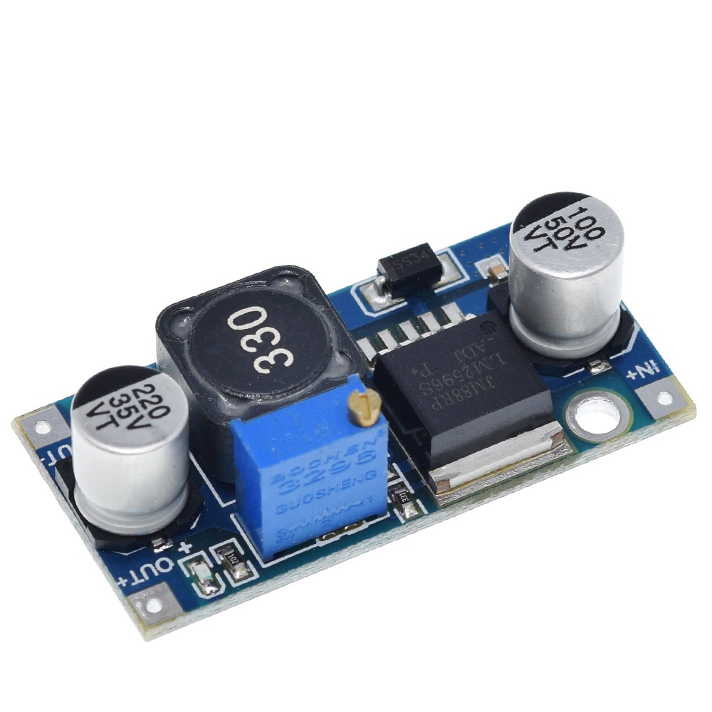 TZT 100pcs LM2596 LM2596S DC DC adjustable step down power Supply module NEW ,High Quality-in Integrated Circuits from Electronic Components & Supplies    3