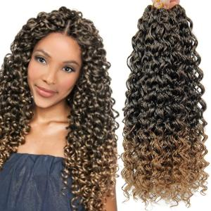 18inches Synthetic Deep Twist Crochet hair Bohemian Crochet Braids Ombre Color Deep Wave Braiding Hair Extension
