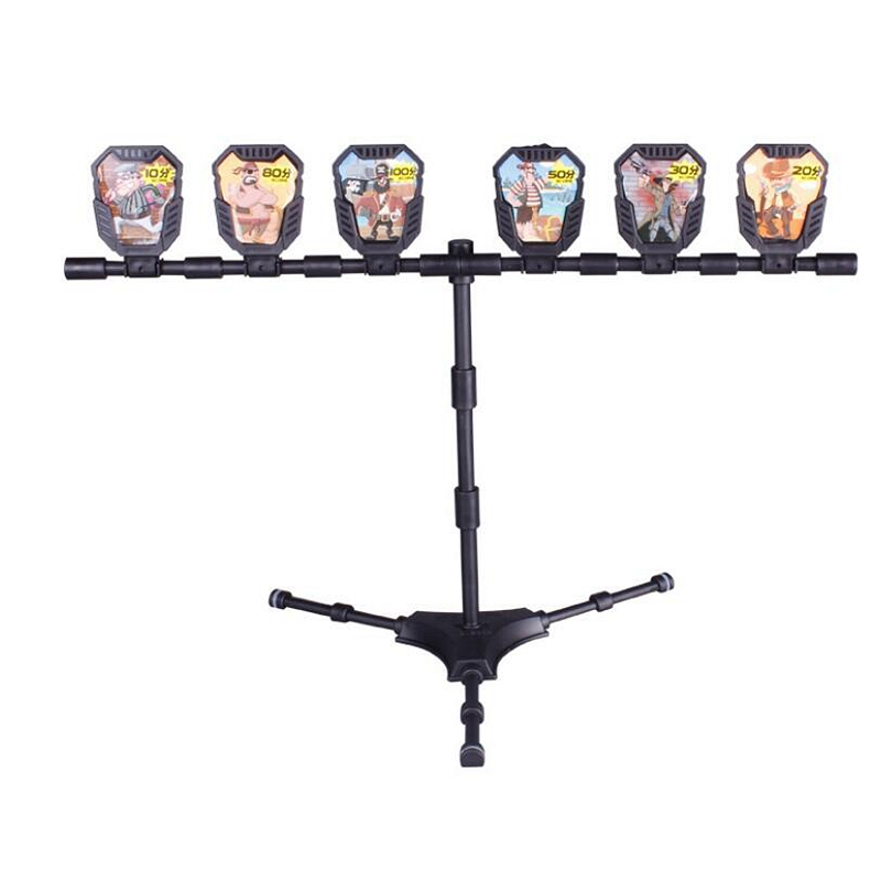 5Pcs 1 Pack Shooting Targets With Stickers And Bracket For Nerf Outdoor Hunting Foam Dart Blasters Practice Accessories