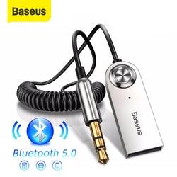 Baseus-receptor de Audio Aux con Bluetooth, adaptador USB inalámbrico 5,0 para Sparker, Kit manos libres de coche, transmisor de Audio y música Bluetooth