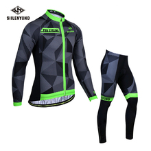 цена на Autumn Long Sleev Cycling Jersey Set  Cycling Clothes Men's Jersey Suit Riding Bike MTB Clothing Ropa De Camisa Ciclismo