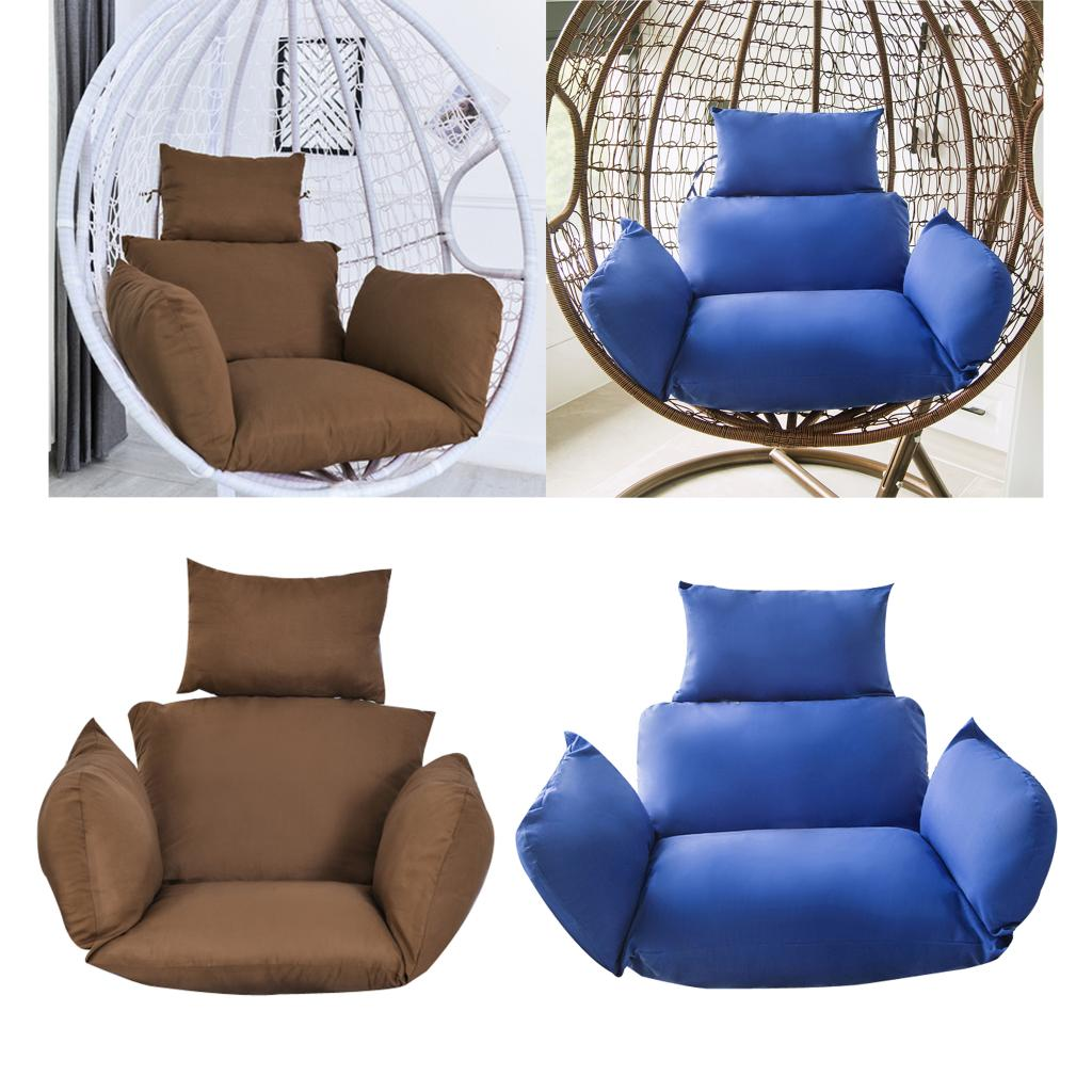 Swing Hanging Egg Rattan Chair Outdoor Garden Patio Hammock Stand Cushions